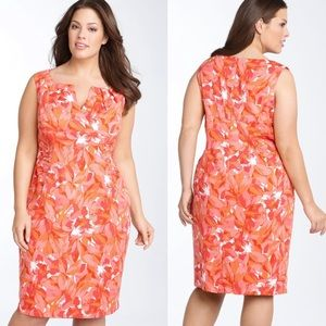Adrianna Papell Ruched Floral Dress Size 20W